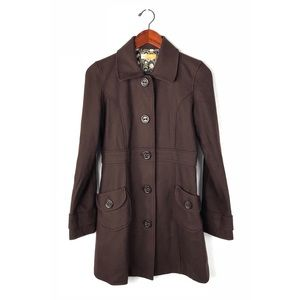 Anthropologie Tulle peacoat Jacket wool jacket S